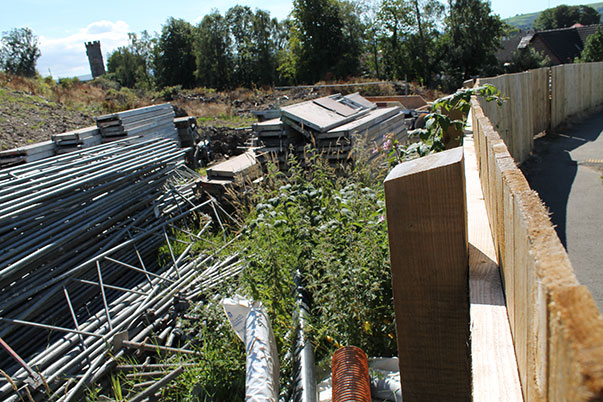 June 2014 - site with building materials in August 2013